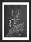 Boat And Oar Patent Reproduction encadrée