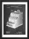 Cash Register Patent Reproduction encadrée