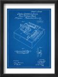 Type Writing Machine Patent Reproduction encadrée