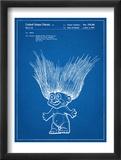 Troll Doll Patent Reproduction encadrée