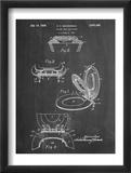 Toilet Seat Patent Reproduction encadrée