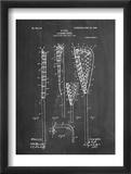 Lacrosse Stick Patent Reproduction encadrée