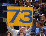 Fan Holds Up 73 Sign - Golden State Warriors vs Memphis Grizzlies  April 13  2016