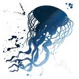 Jellyfish Splatter Indigo