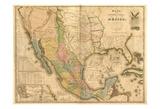 US Mexico Reproduction d'art par Tina Carlson