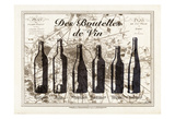 Paris Wine Bottles Reproduction d'art par Tina Carlson