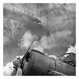 Vintage Planes Maps BW