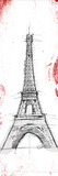 Eiffel Red Pop Sketch