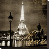 Paris At Night In Sepia