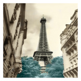Teal Eiffel Tower 1