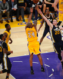 Kobe Bryant 24 Shoots During His Last Game - Los Angeles Lakers vs Utah Jazz  April 13  2016