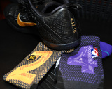 Kobe Bryant's Sneakers & Socks at his Last Game - Los Angeles Lakers vs Utah Jazz  April 13  2016