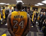 Kobe Bryant 24 Huddles in the Locker Room after his Last Game - April 13  2016