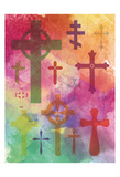 Watercolor Cross 1