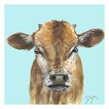 Little Bull Blue Reproduction d'art par Beverly Dyer