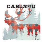 Plaid Caribou Reproduction d'art par Tina Carlson