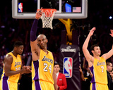 Kobe Bryant 24 Acknowledges the Crowd after his Last Game - April 13  2016