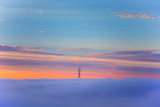 Sutro Tower Above the Fog - San Francisco  Golden Gate Bridge