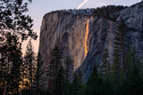 Light Magic on Earth  Firefall  Horsetail Falls  Yosemite National Park  Rare Light