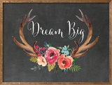 Dream Big Antlers Chalkboard 01