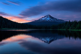 Mellow Evening at Trillium Lake Reflection  Summer Mount Hood Oregon