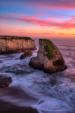 Sunset at Shark Fin Cove  Davenport  Santa Cruz  Pacific Ocean
