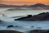 Sunrise Fog Through the Hills of Sonoma Valley  Petaluma California