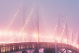 Misty Bridge Lights - San Francisco Bay Fog