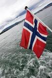 Norwegian Flag on a Boat