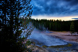 Morning Brew  Mood and Mist at Yellowstone National Park  Wyoming