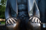 Karl Marx Statue's Hands  Berlin  Germany
