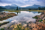 Spring at Sparks Lake  Bend Oregon Mount Bachelor Wilderness Fishing