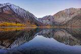 Peaceful Morning Reflections at Convict Lake  Eastern Sierras  California