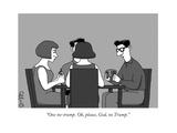 """One no-trump Oh  please  God  no Trump"" - New Yorker Cartoon"