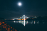 Oakland Bay Bridge by Moonlight and Reflection