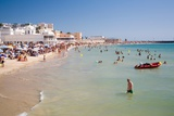 People on Beach in Spain