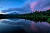 After Sunset at Trillium Lake Reflection  Summer Mount Hood Oregon