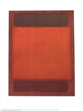 No. 202 (Orange, Brown) Reproduction pour collectionneurs par Mark Rothko