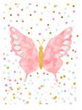 Papillon Reproduction d'art par Peach & Gold