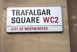Trafalgar Square Sign  London