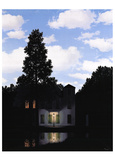 L'empire des lumières Reproduction d'art par Rene Magritte