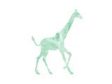 Girafe Reproduction d'art par Peach & Gold