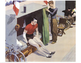 Bicycle Rider Reproduction d'art par Edward Hopper