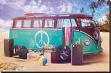 VW Camper Retro Poster