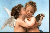 William Bouguereau (Le Premier Baiser  The First Kiss) Art Poster Print
