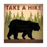 Take a Hike Black Bear Reproduction d'art par Ryan Fowler