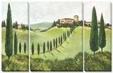 My Tuscany 3 Piece Set Tableau multi toiles par C. Ancilotti