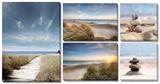 Beach 5 Piece Set Tableau multi toiles
