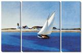 The Long 3 Piece Set Tableau multi toiles par Edward Hopper