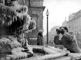 The Frozen Fountain in Piccadilly Circus During the Winter  1956
